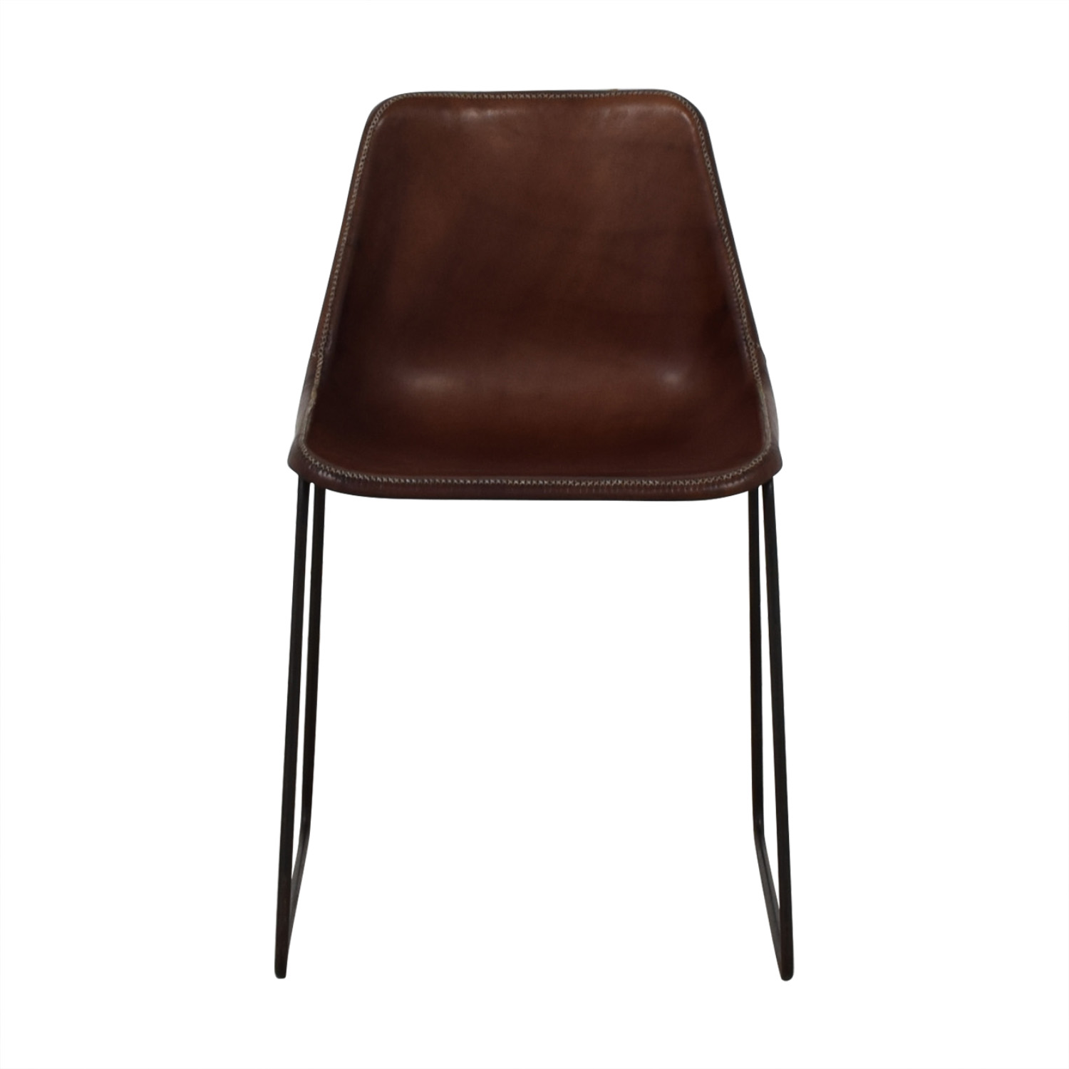 ABC Carpet & Home ABC Carpet & Home Giron Brown Leather Chair price