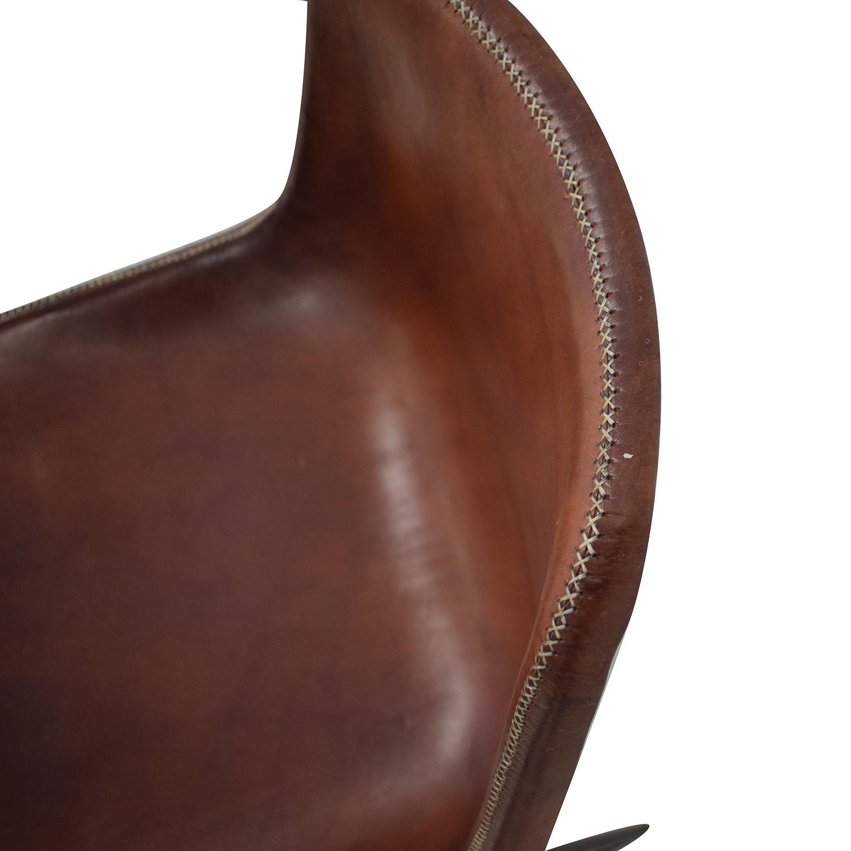 ABC Carpet & Home ABC Carpet & Home Giron Brown Leather Chair brown