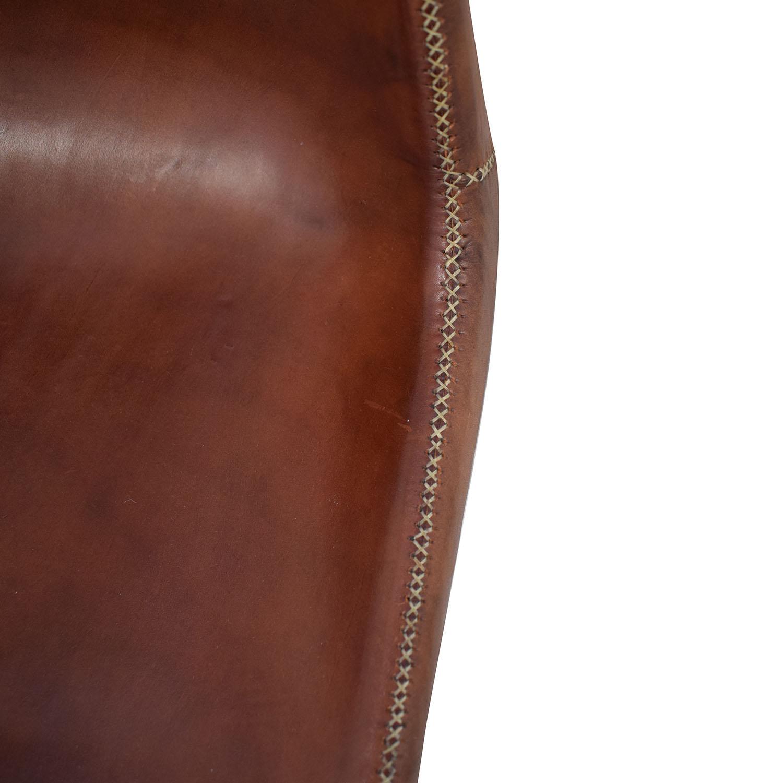 ABC Carpet & Home ABC Carpet & Home Giron Brown Leather Chair coupon