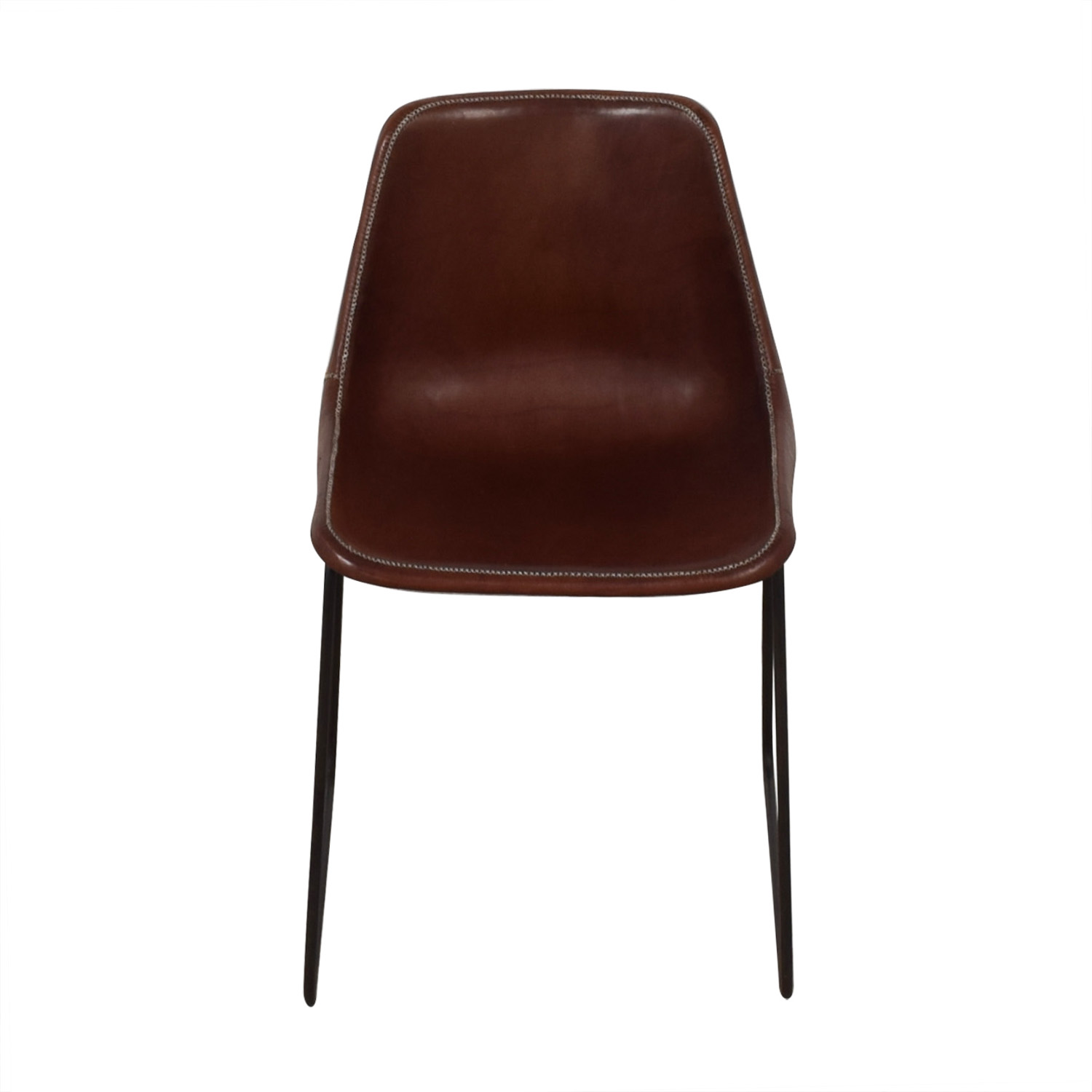ABC Carpet & Home ABC Carpet & Home Giron Brown Leather Chair for sale