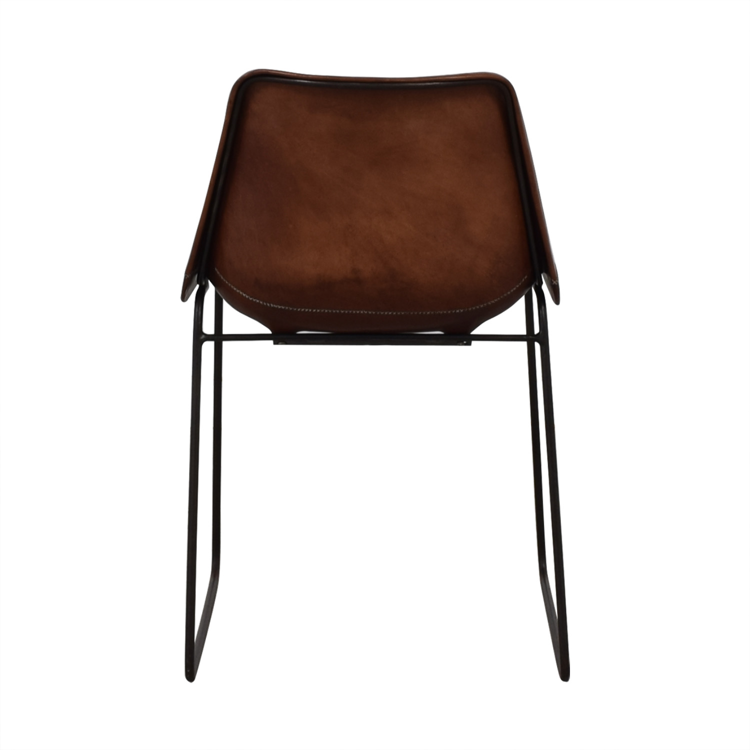 buy ABC Carpet & Home Giron Brown Leather Chair ABC Carpet & Home Chairs