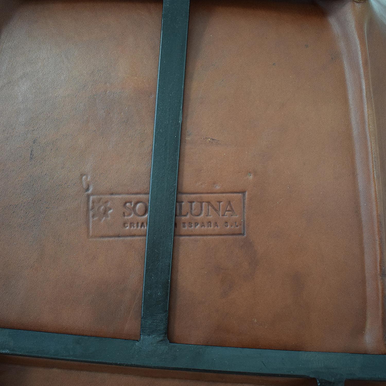 shop ABC Carpet & Home ABC Carpet & Home Giron Brown Leather Chair online