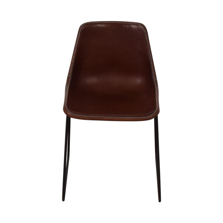 shop ABC Carpet & Home Giron Brown Leather Chair ABC Carpet & Home