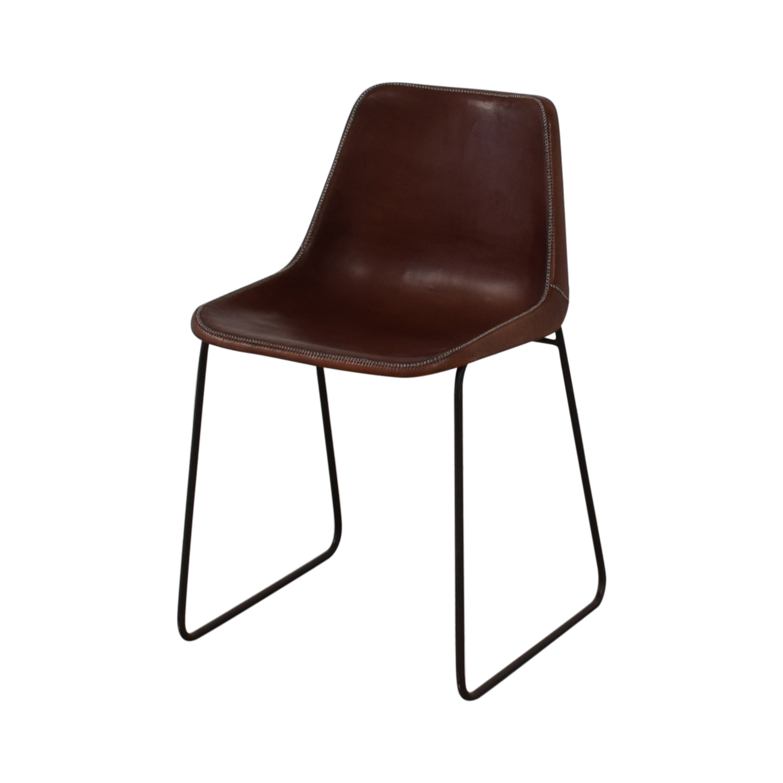 ABC Carpet & Home ABC Carpet & Home Giron Brown Leather Chair nj