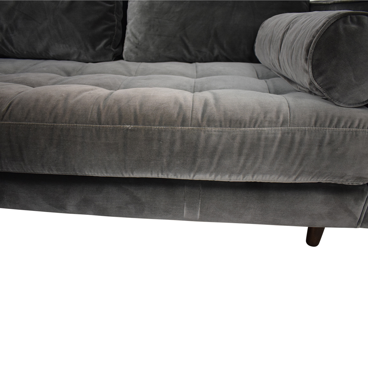 shop Article Article Sven Velvet Gray Left Chaise Sectional online