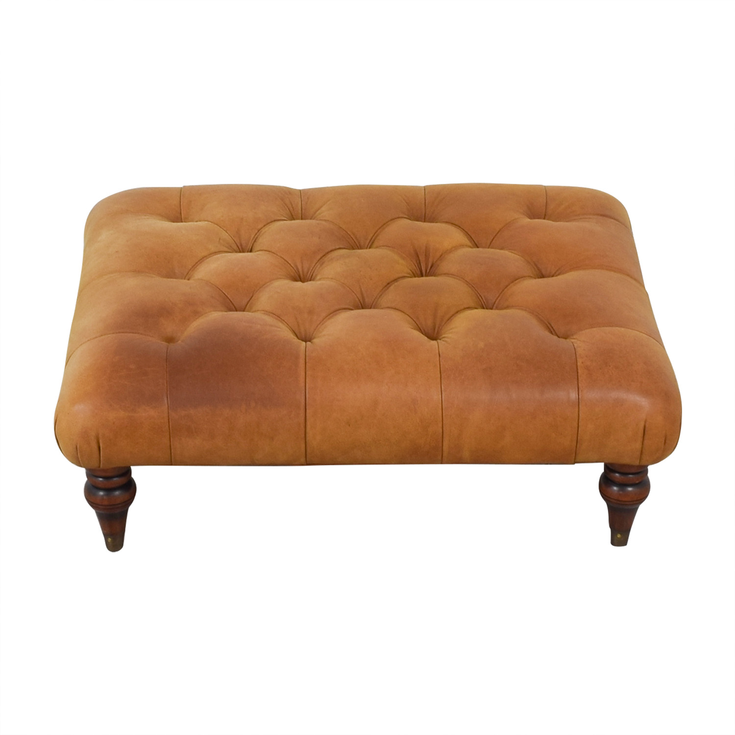 Laura Ashley Radley Leather Ottoman sale