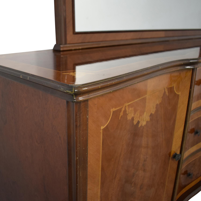 Roma Furniture Dresser with Mirror / Storage