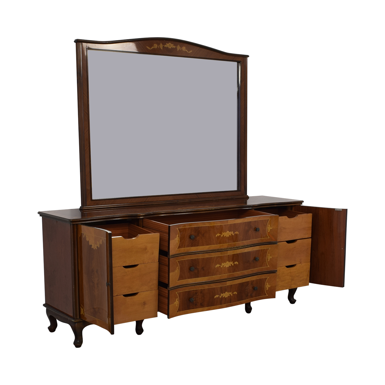 Roma Furniture Dresser with Mirror discount