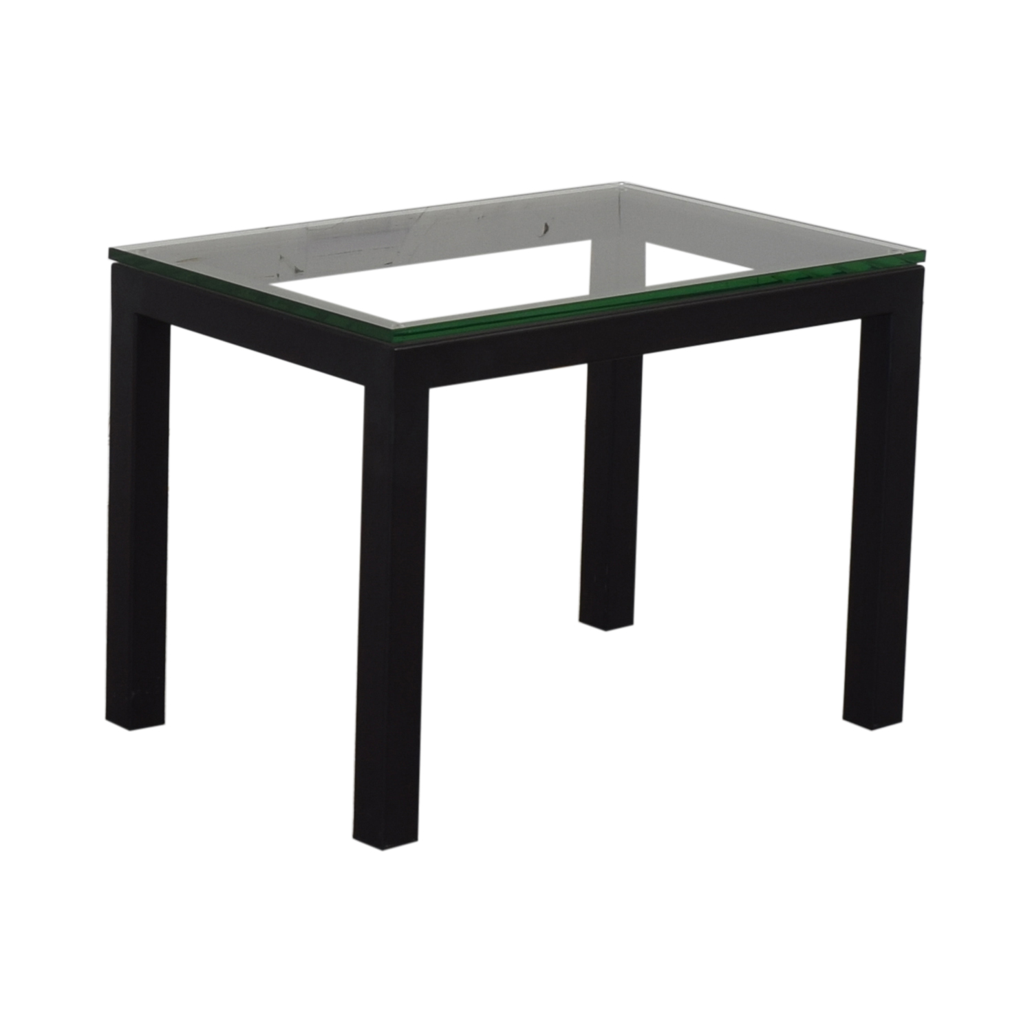 buy Crate & Barrel Parsons Clear Glass Top End Table Crate & Barrel