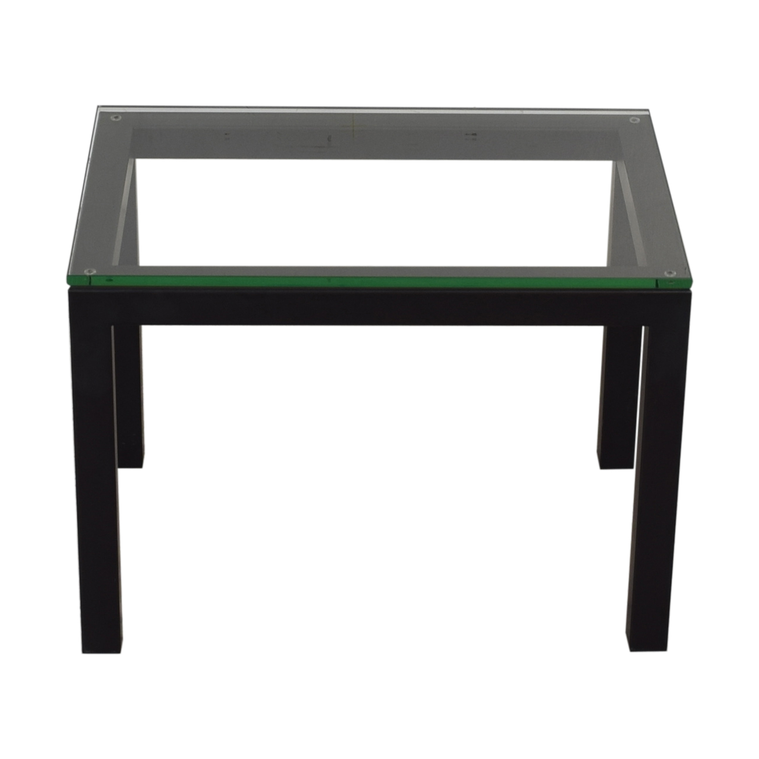 Crate & Barrel Crate & Barrel Parsons Clear Glass Top End Table used