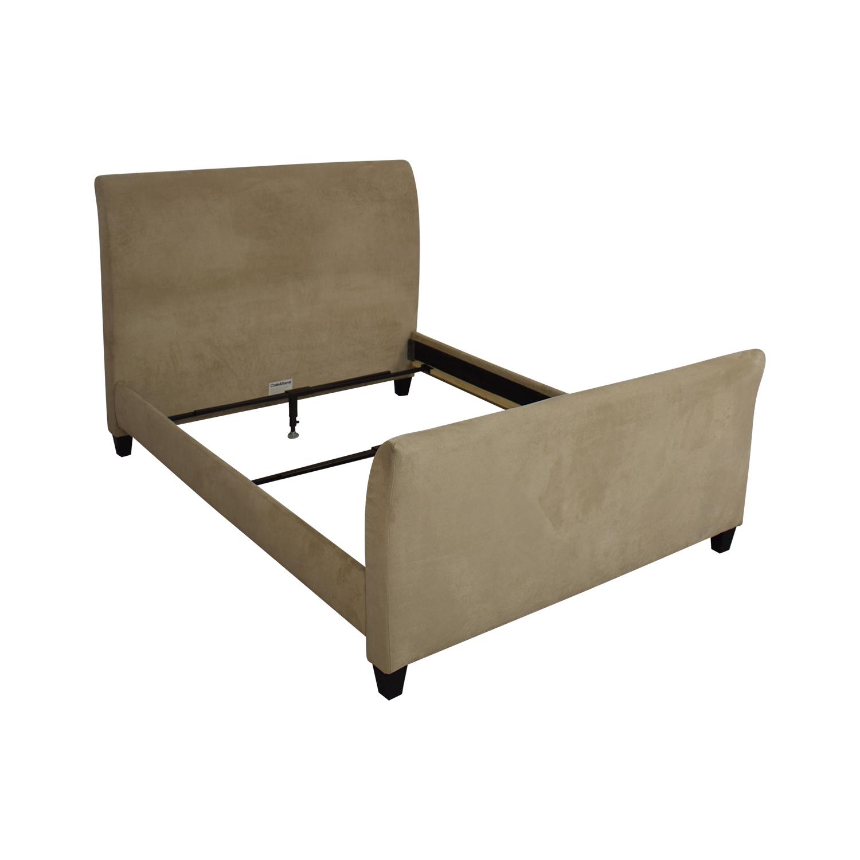 buy Crate & Barrel Fairmont Upholstered Queen Bed Crate & Barrel Beds