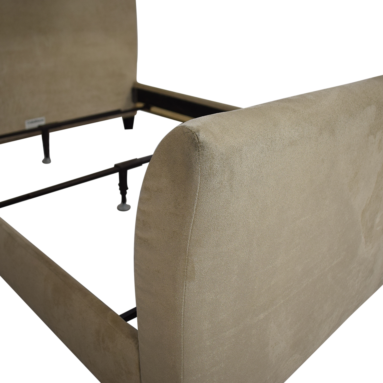 shop Crate & Barrel Fairmont Upholstered Queen Bed Crate & Barrel