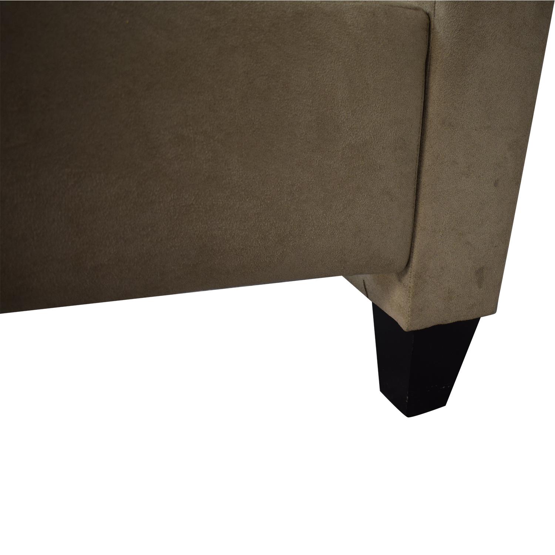 Crate & Barrel Crate & Barrel Fairmont Upholstered Queen Bed nj