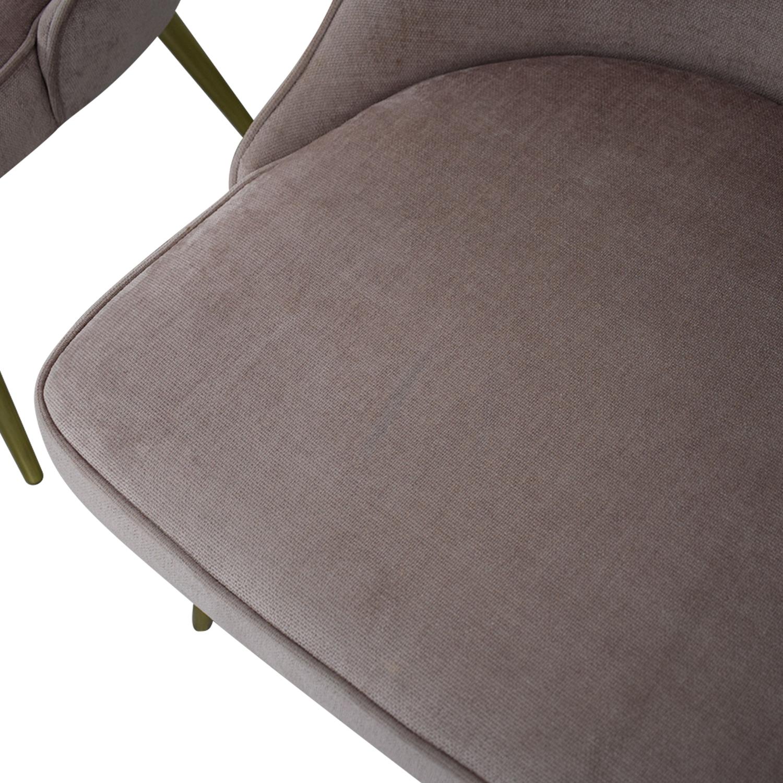 buy West Elm Mid-Century Upholstered Chairs Worn Velvet Light Pink West Elm