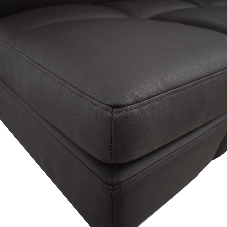 Coddle Coddle Gjemeni Convertible Leather Sleeper Sofa Sofas
