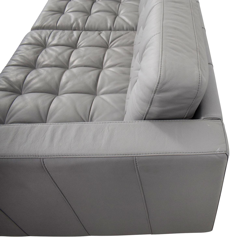 IKEA IKEA Grey Leather Landskrona Sofa