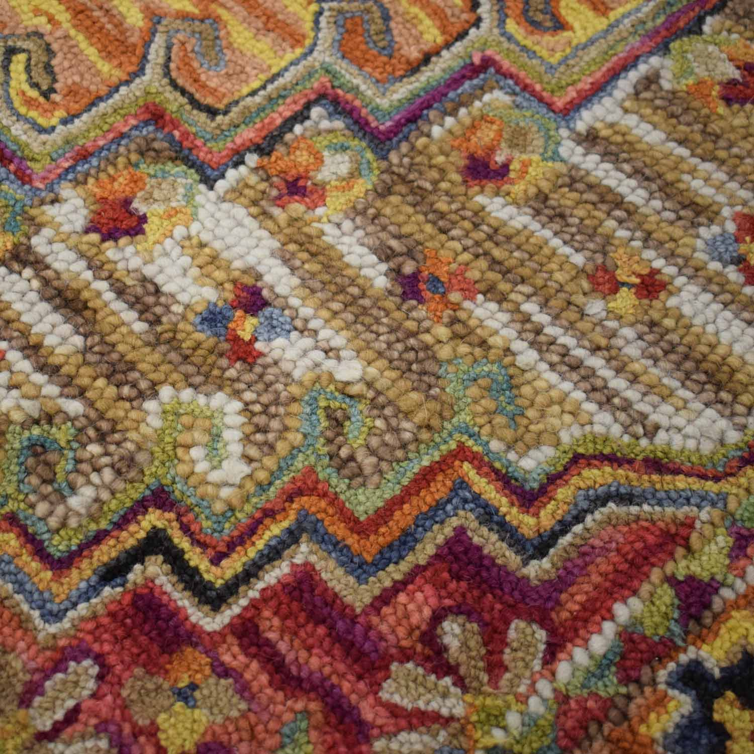World Market Multi-Colored Wool Rug / Rugs
