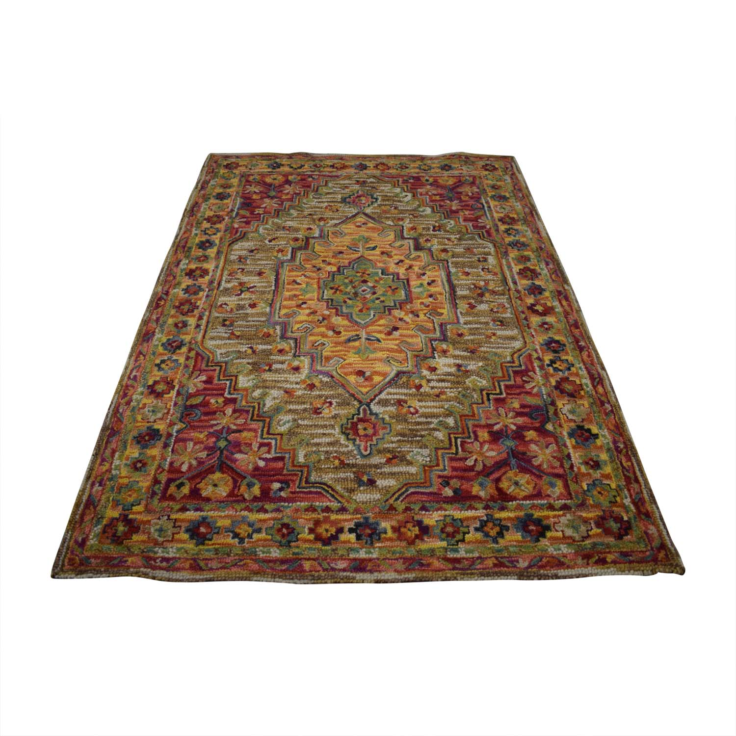 shop World Market Multi-Colored Wool Rug Cost Plus World Market