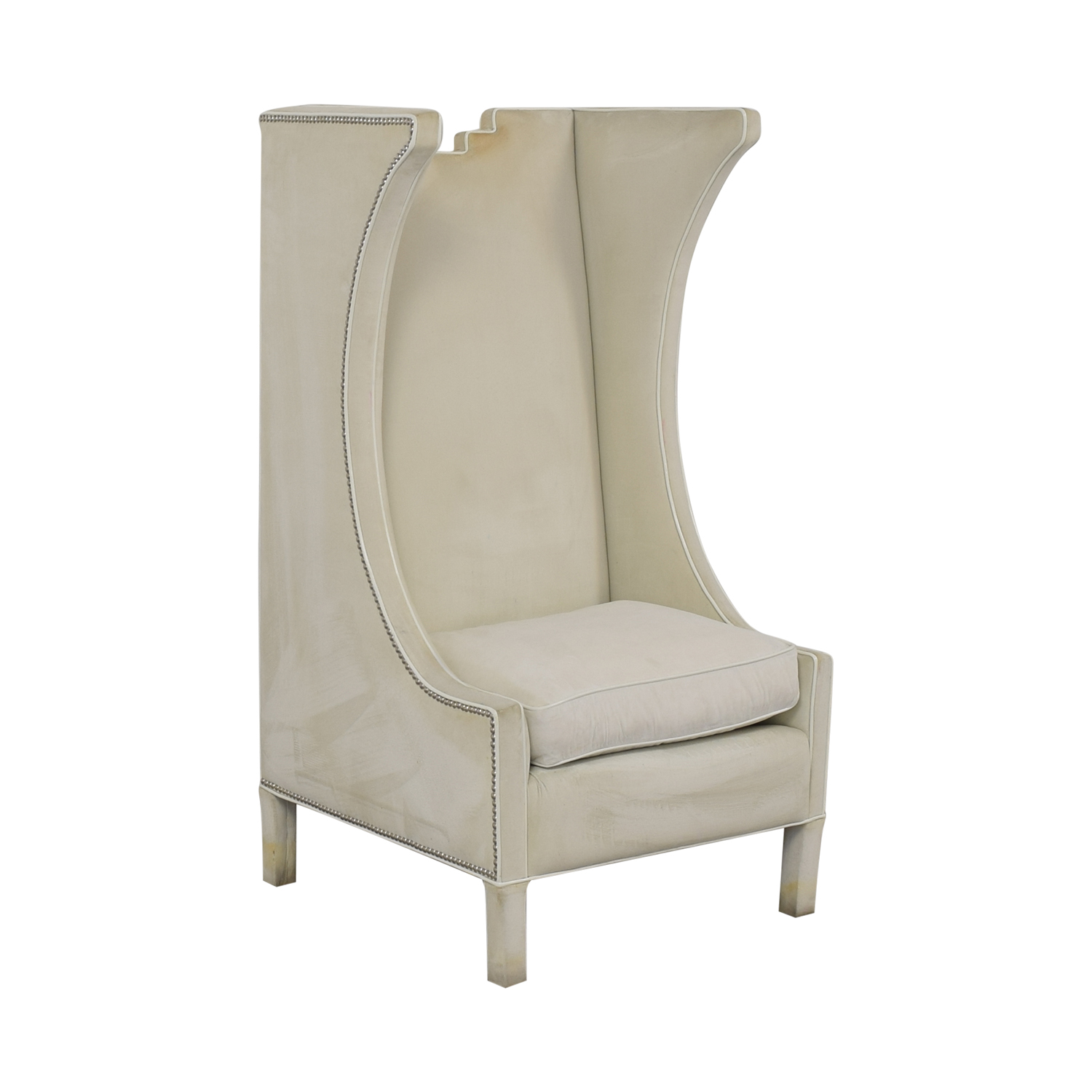Shine by S.H.O Shine by S.H.O. Lolita High Chair Cotton Velvet and Leather Piping for sale