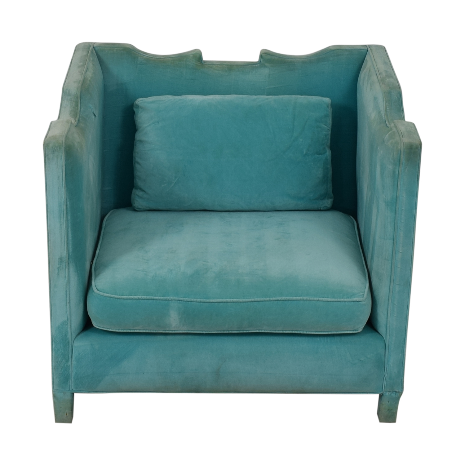 Shine by S.H.O Shine by S.H.O Limoge Chair Cotton Velvet with Polished Nickel Studs coupon