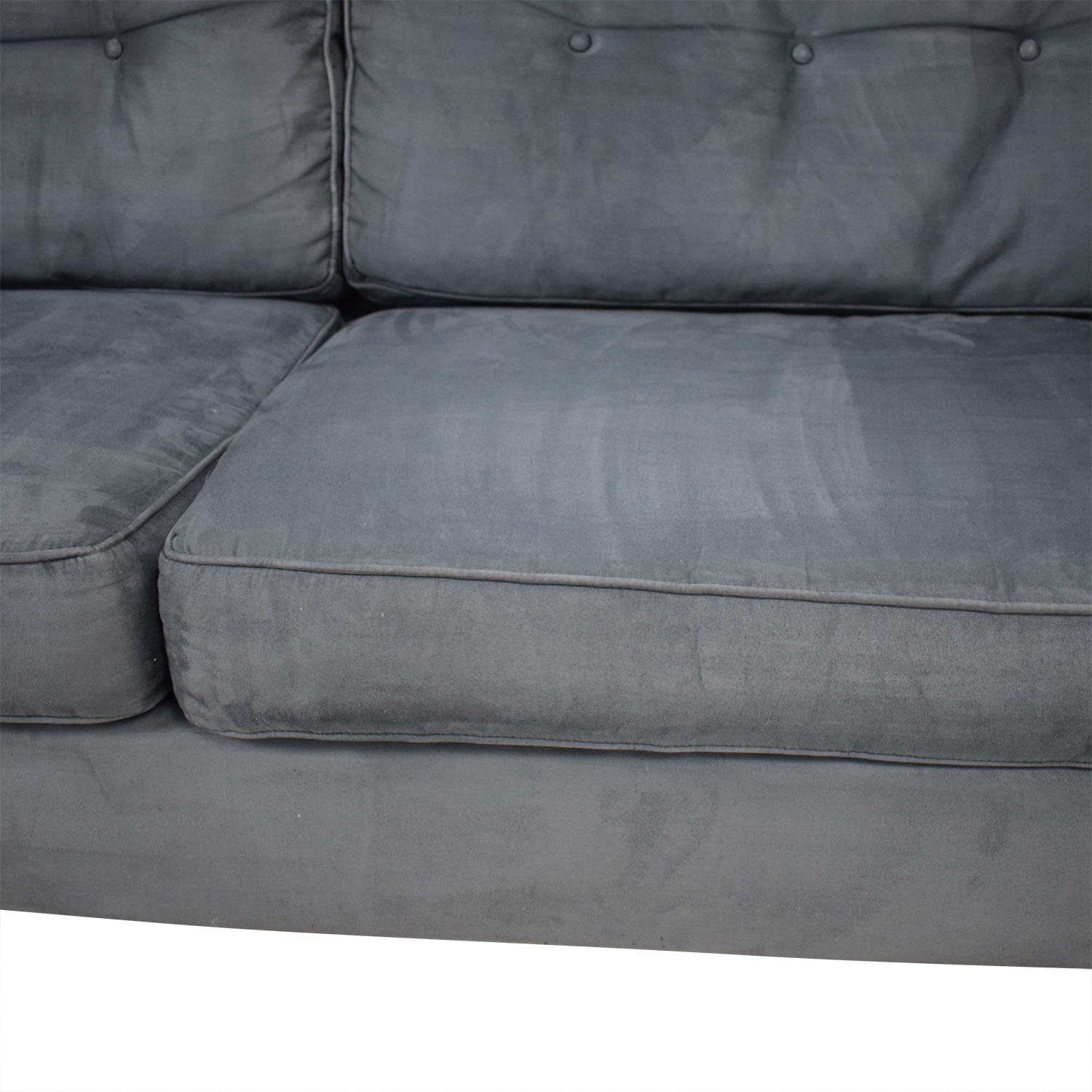 Bauhaus Furniture Bauhaus Furniture Navy Tufted Microfiber Sofa price