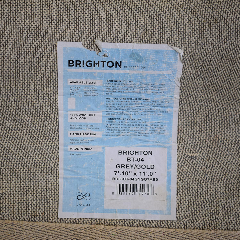 Loloi Brighton Grey and Yellow Rug Loloi