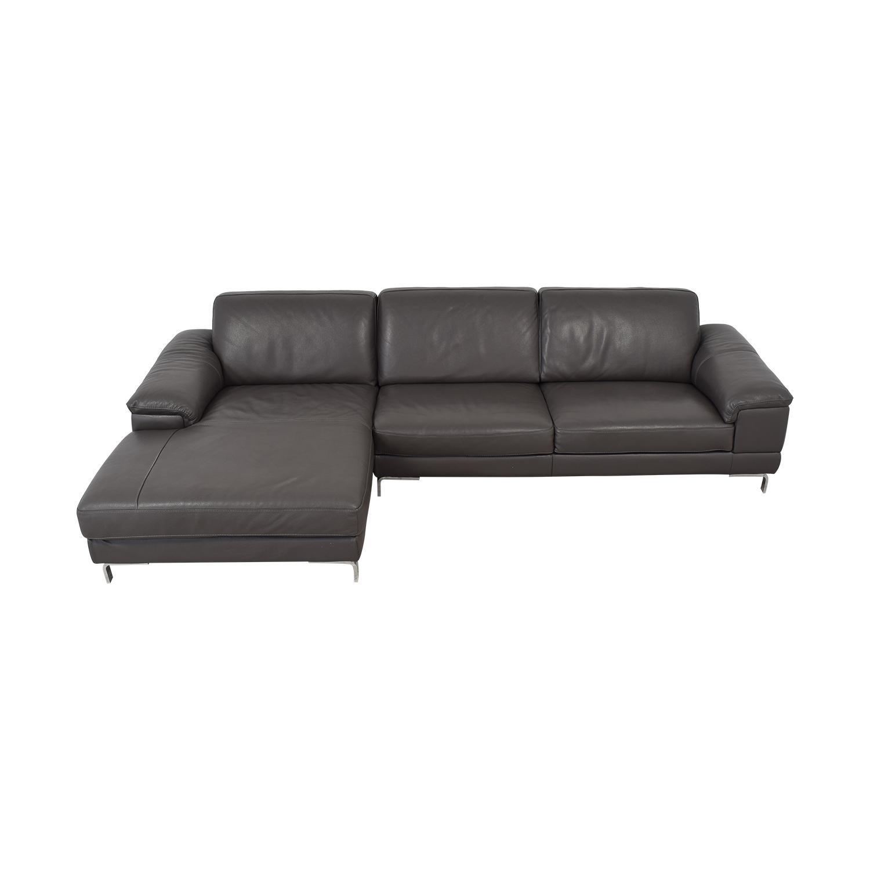 Nicoletti Home Nicoletti Dorian Chaise Sectional Sofa Sofas