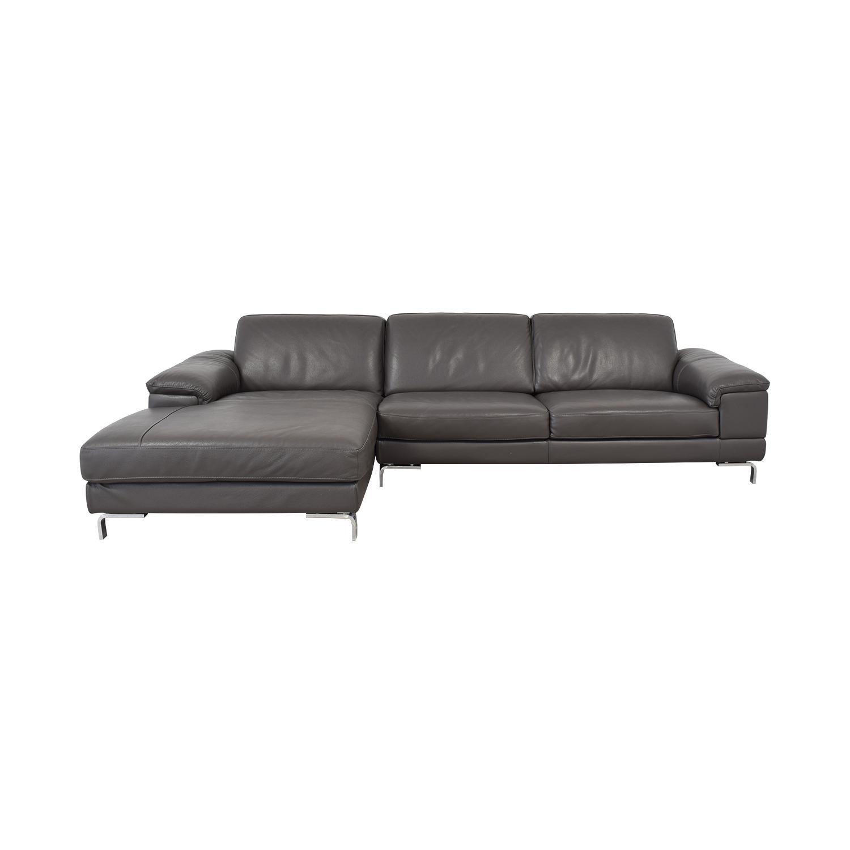 56% OFF - Nicoletti Home Nicoletti Dorian Chaise Sectional Sofa / Sofas
