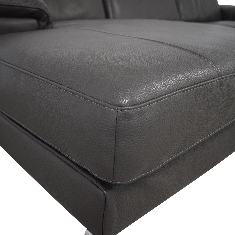 Nicoletti Home Nicoletti Dorian Chaise Sectional Sofa coupon