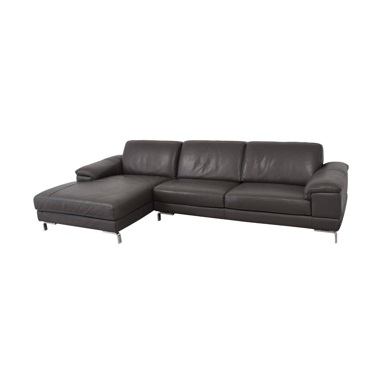 Nicoletti Home Nicoletti Dorian Chaise Sectional Sofa on sale