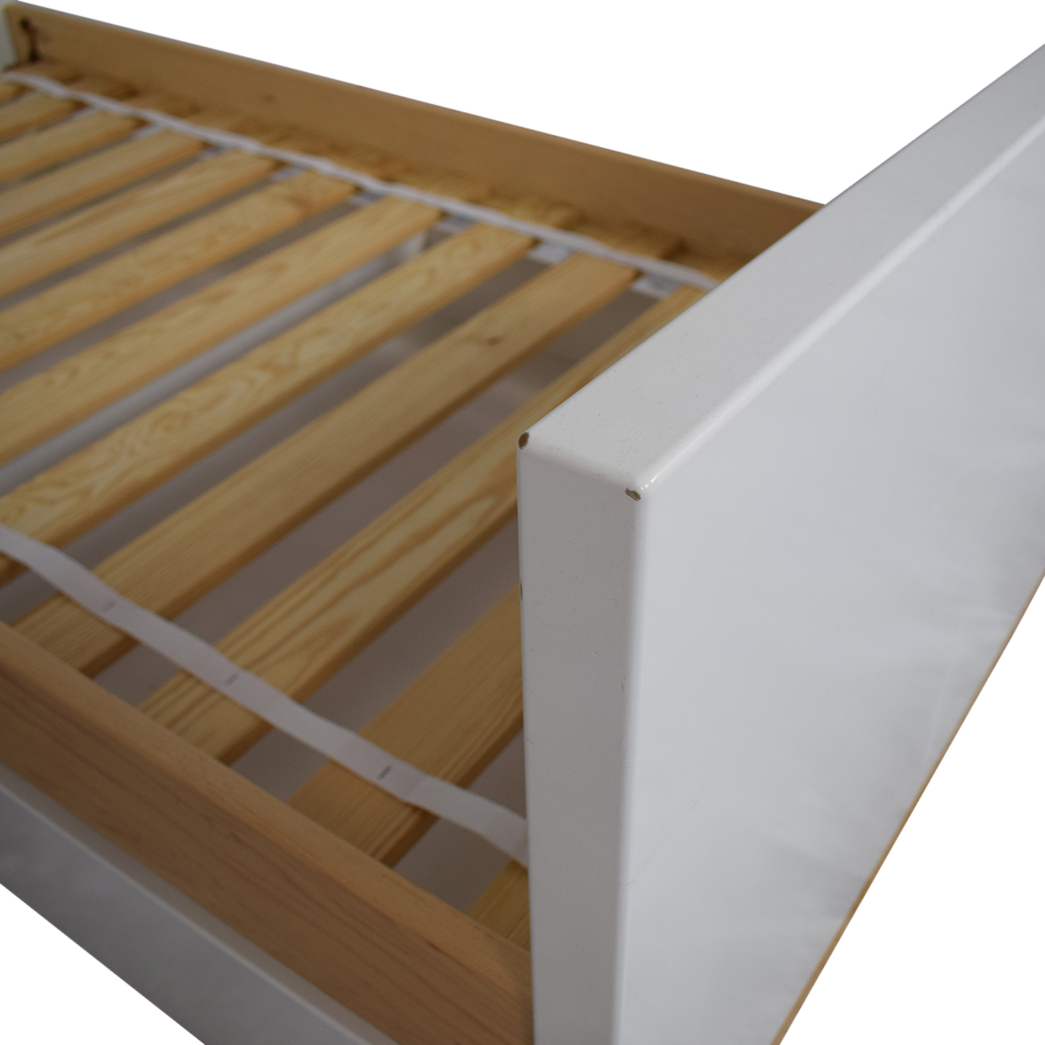 shop Room & Board Moda White and Maple Twin Bed Room & Board Bed Frames