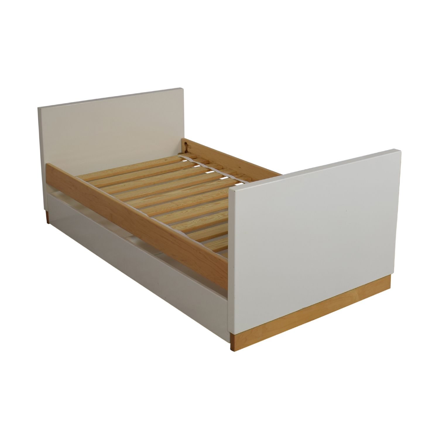 Room & Board Room & Board Moda White and Maple Twin Bed Bed Frames
