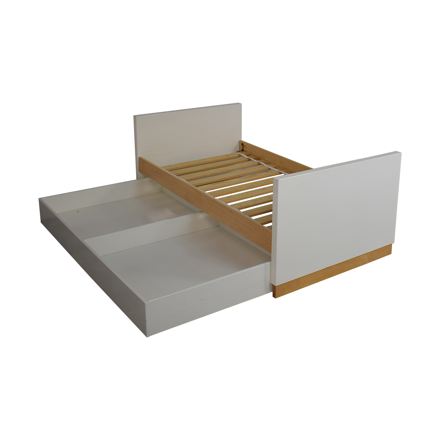 Room & Board Room & Board Moda White and Maple Twin Bed Beds
