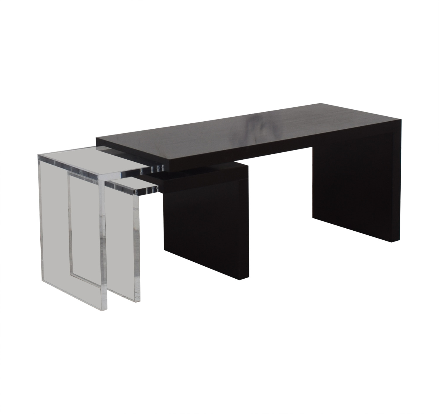Black and Clear Nested Coffee Tables coupon