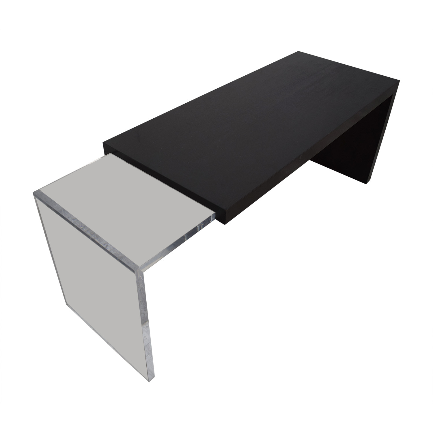 Black and Clear Nested Coffee Tables nyc