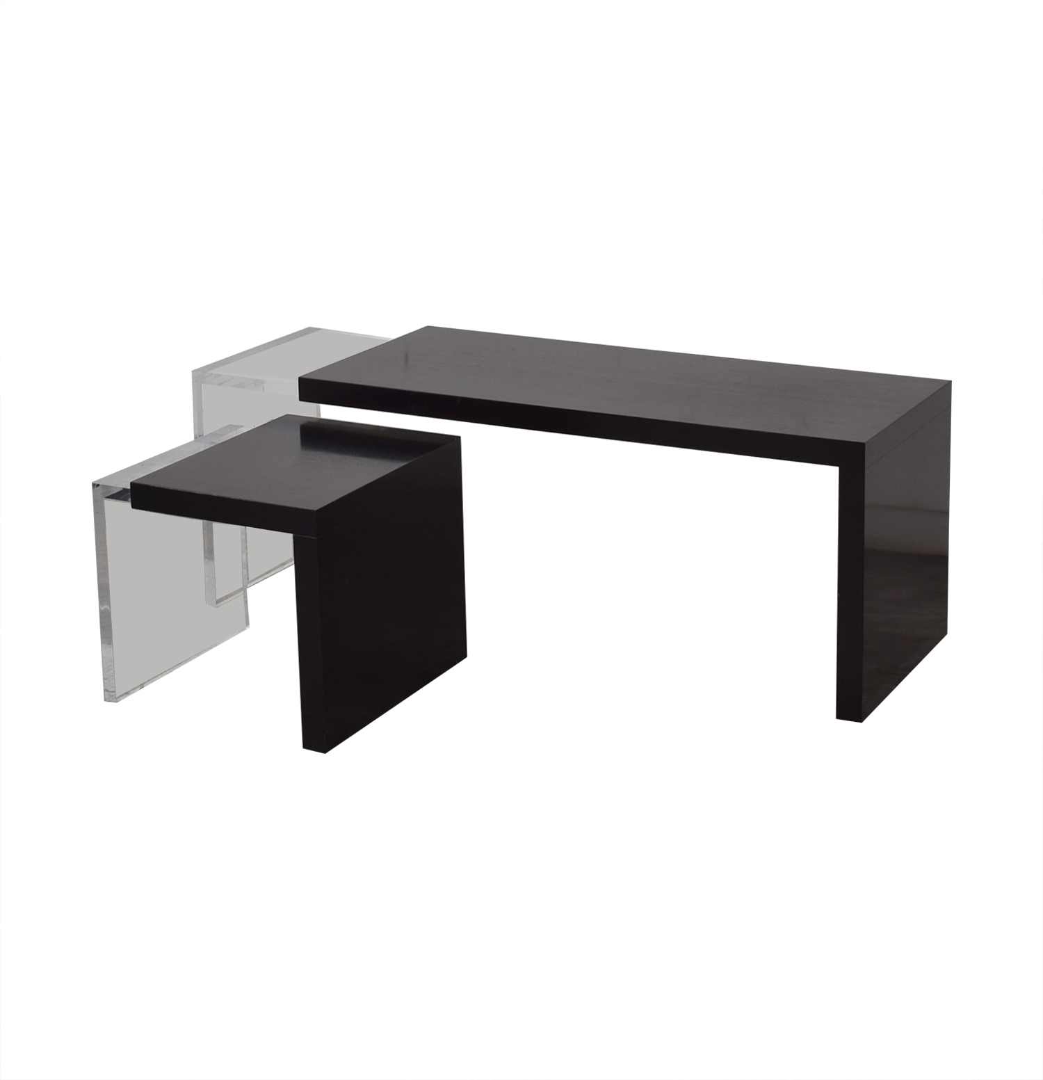 Black and Clear Nested Coffee Tables / Coffee Tables
