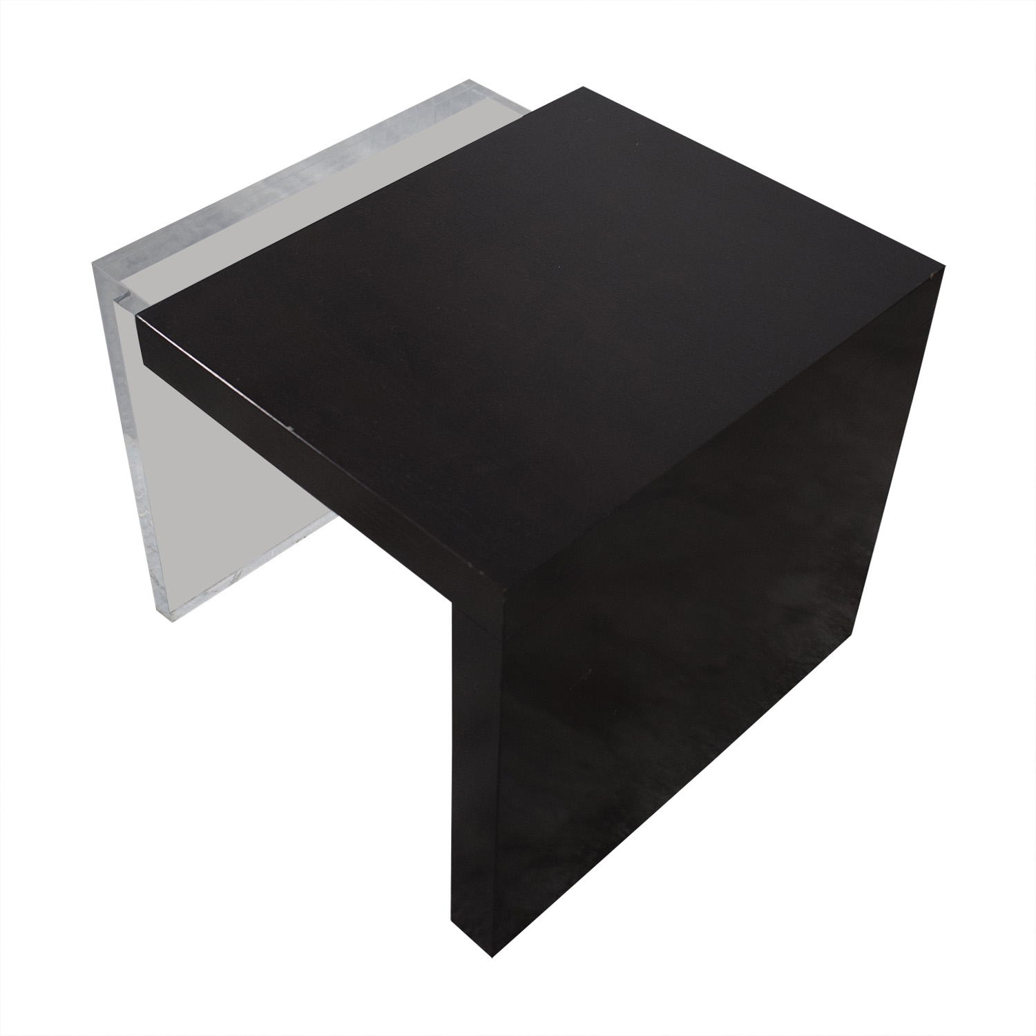 Black and Clear Nested Coffee Tables discount
