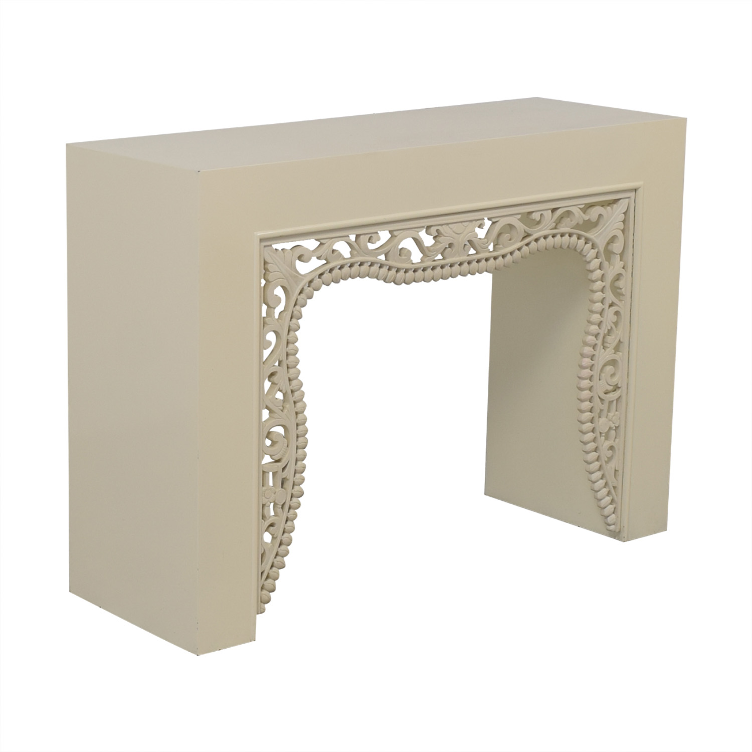 Shine by S.H.O Shangai White Lacquer Console used
