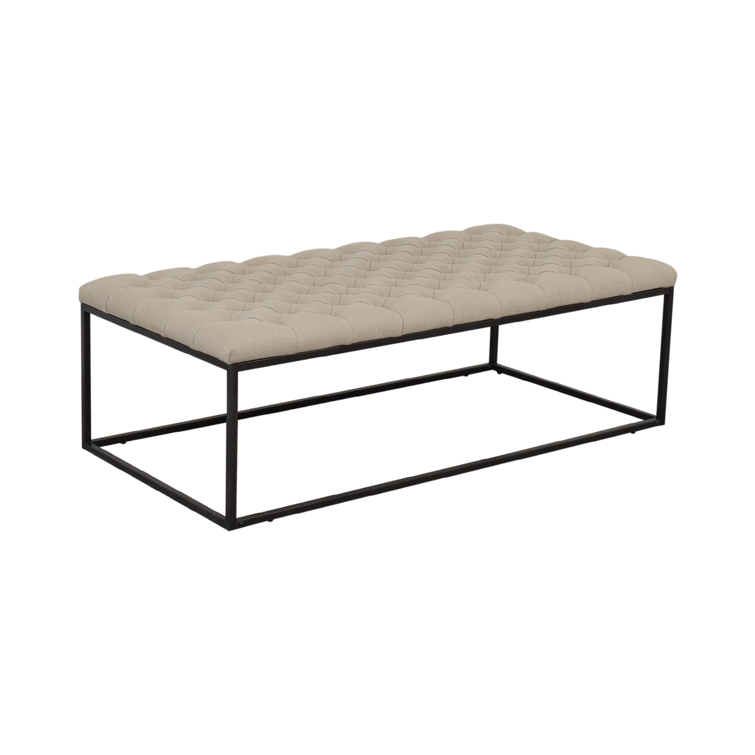 Classic Concepts Classic Concepts Tufted Ottoman Bench second hand