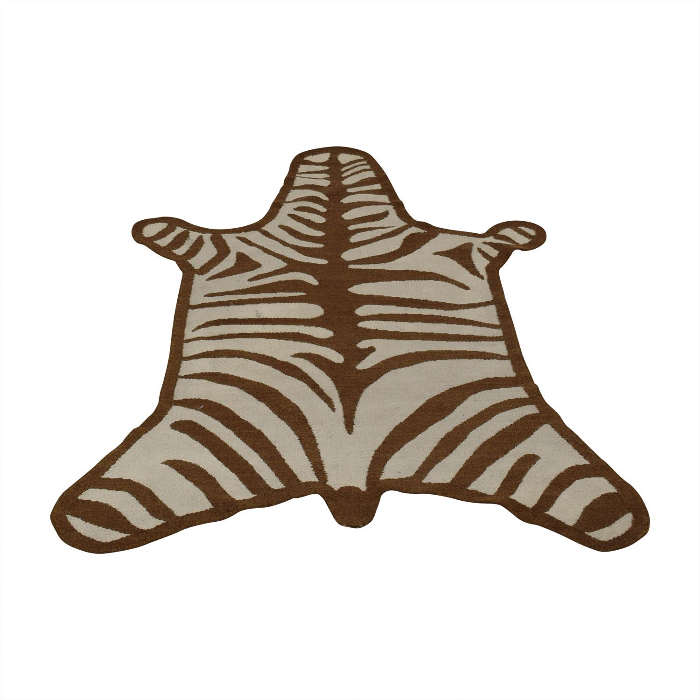 buy Jonathan Adler Zebra Peruvian Flat Weave Rug Jonathan Adler Decor