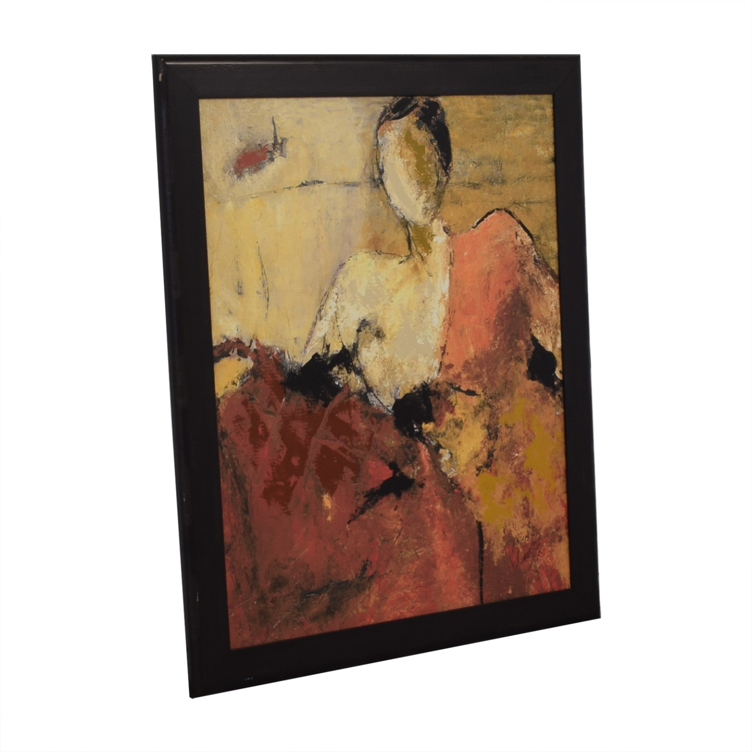 81% OFF , Z Gallerie Z Gallerie Wall Art on Black Wood Frame / Decor