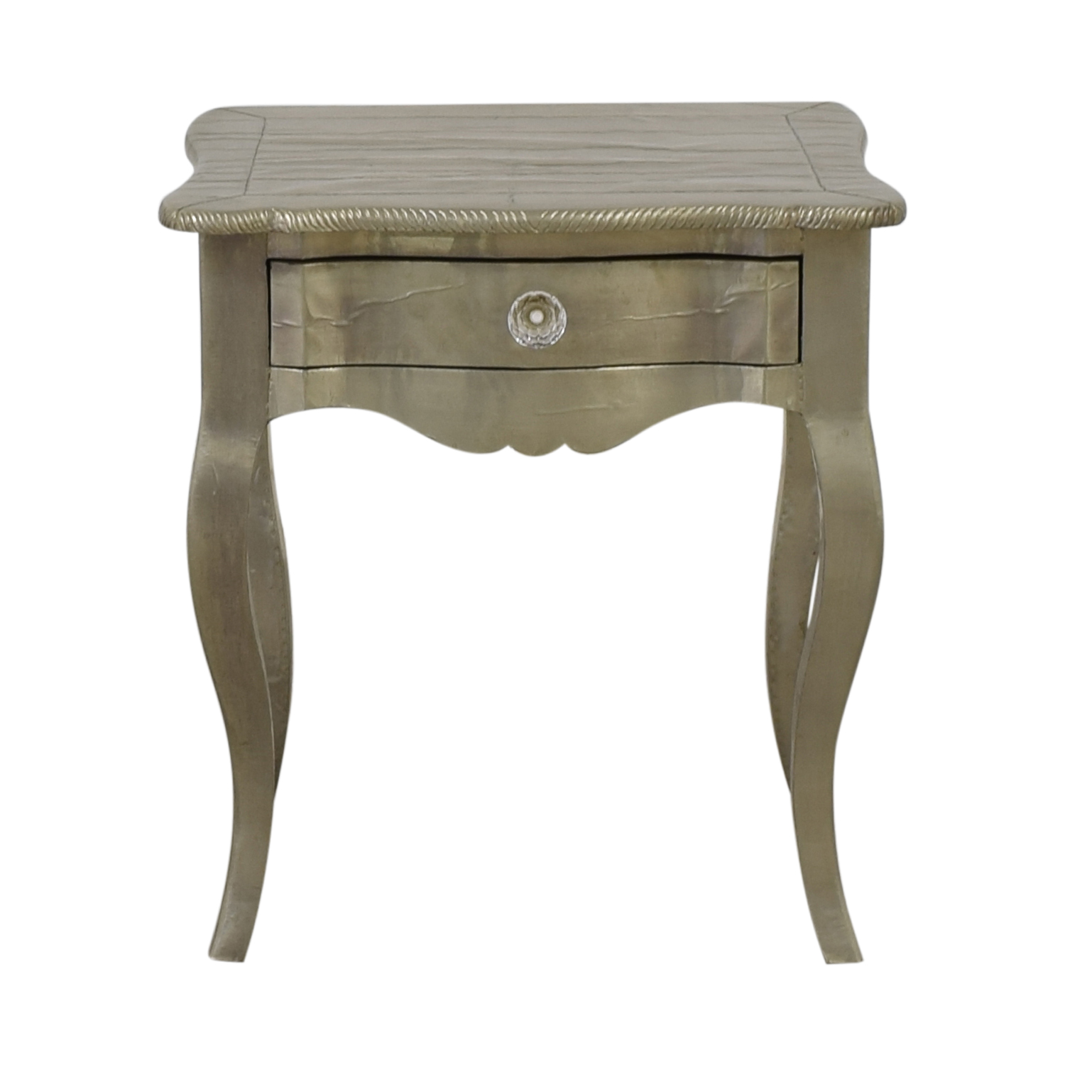ABC Carpet & Home ABC Carpet & Home Wood Silver Leaf Bedside Table nj