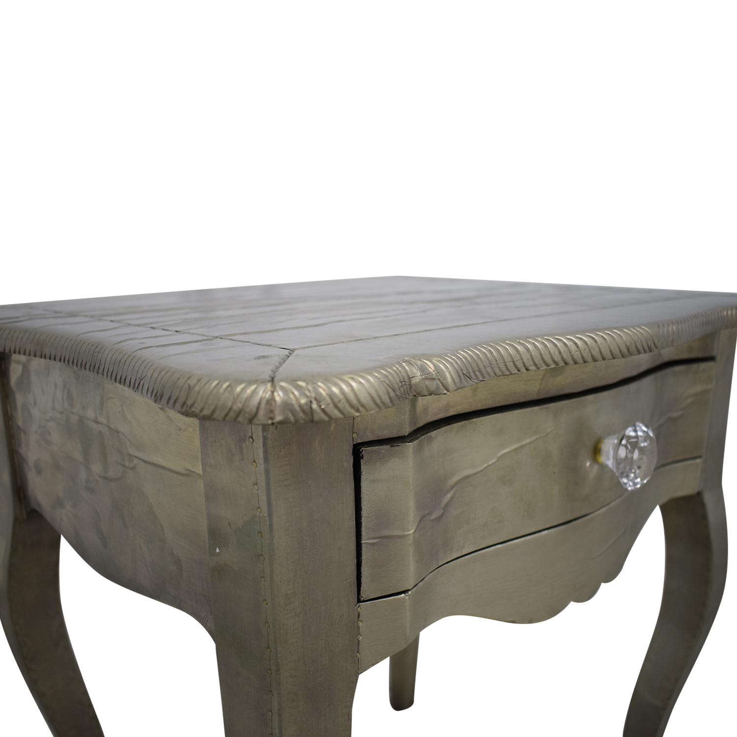 ABC Carpet & Home ABC Carpet & Home Wood Silver Leaf Bedside Table coupon
