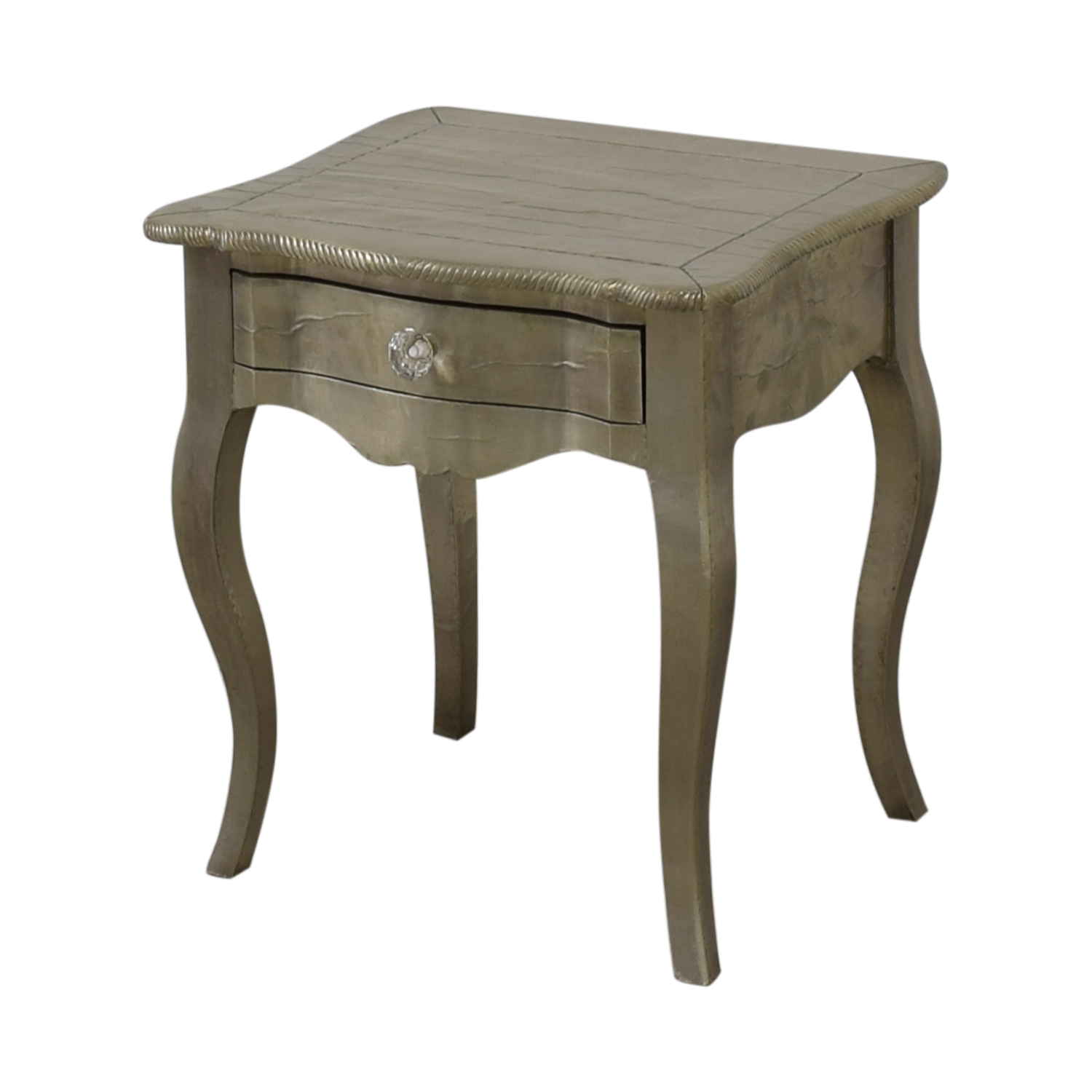 ABC Carpet & Home ABC Carpet & Home Wood Silver Leaf Bedside Table End Tables