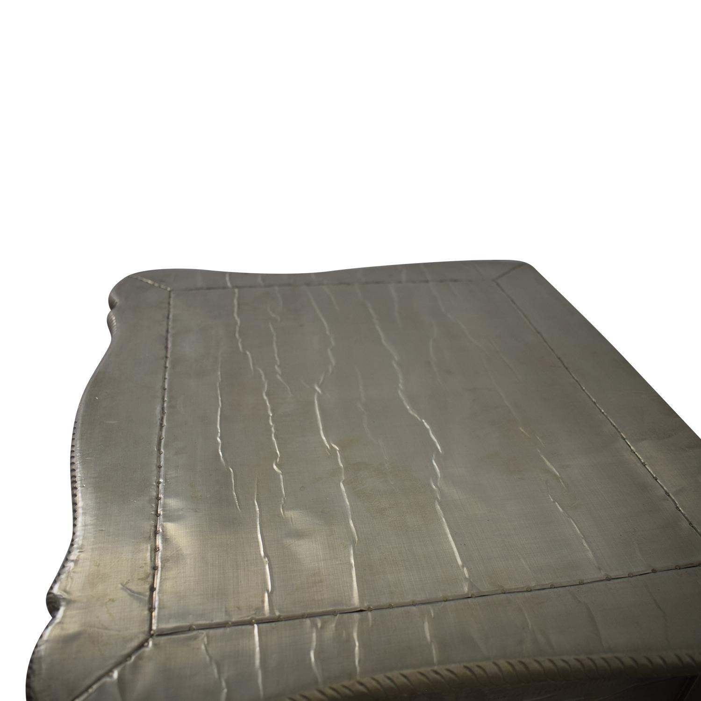 shop ABC Carpet & Home ABC Carpet & Home Wood Silver Leaf Bedside Table online