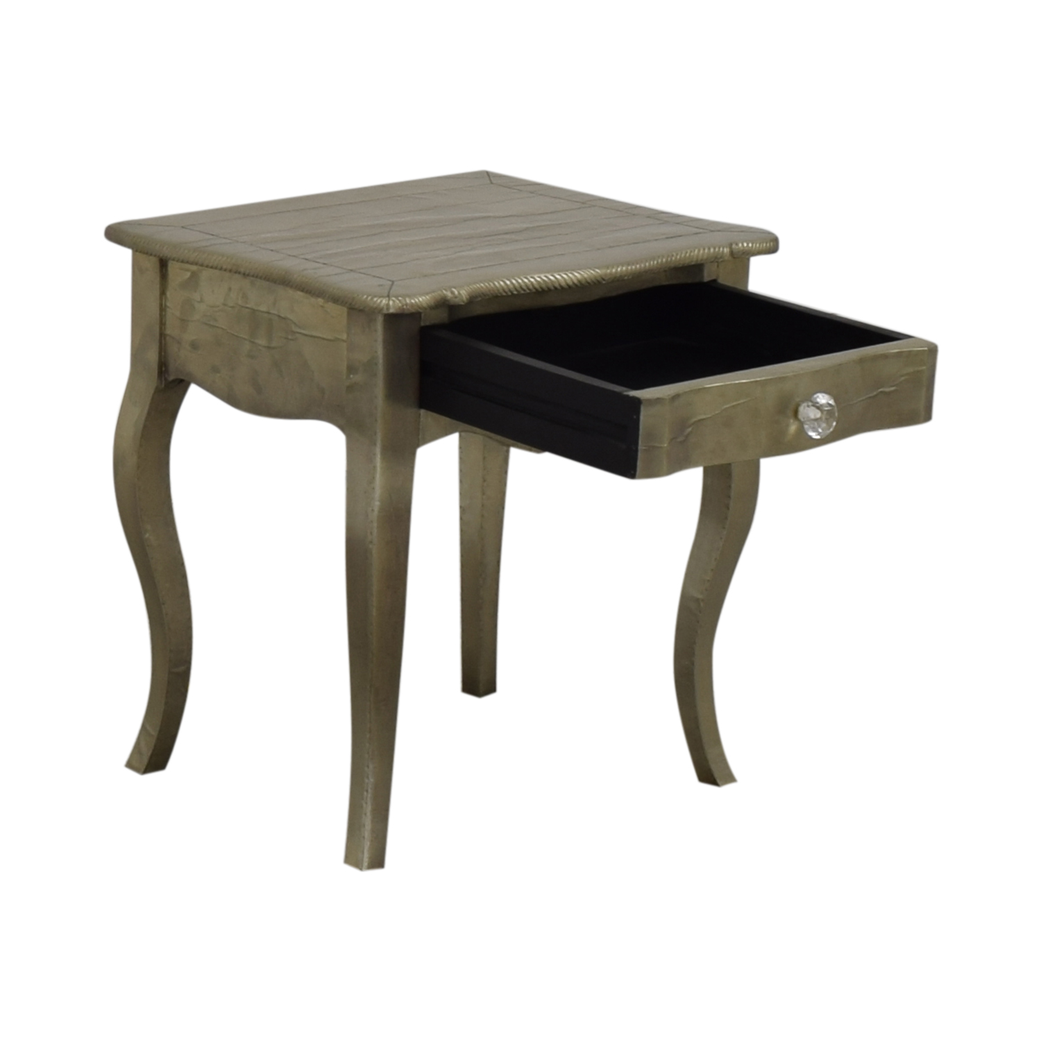 ABC Carpet & Home ABC Carpet & Home Wood Silver Leaf Bedside Table silver