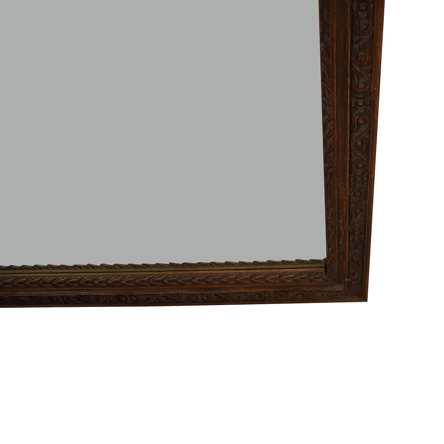 Large Carved Wood Mirror Decor