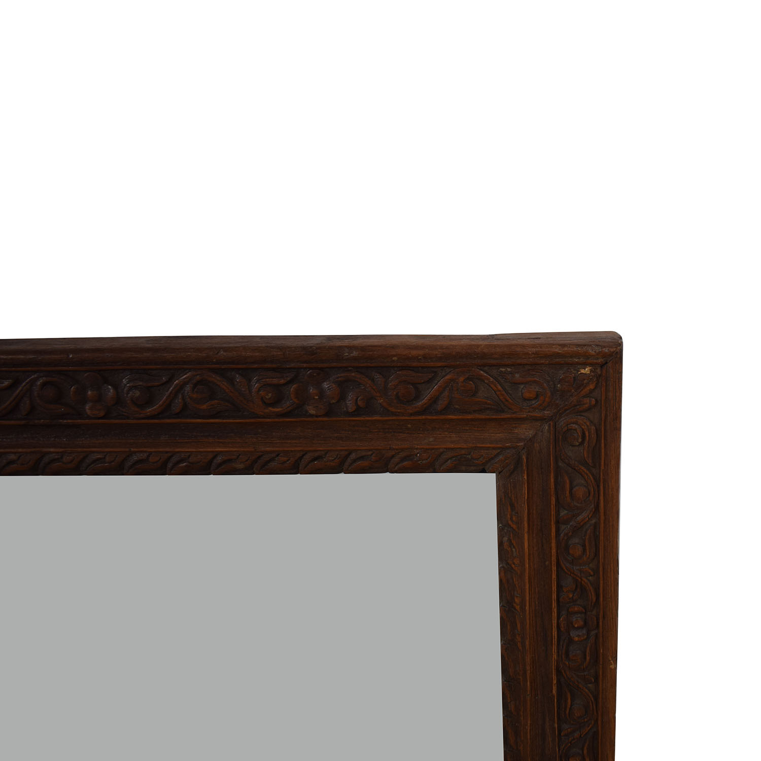 shop Large Carved Wood Mirror  Decor