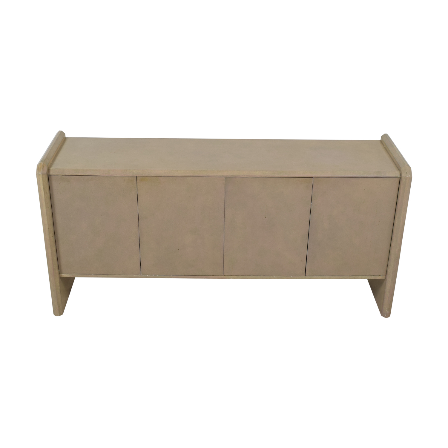 buy Blush Pink Lacquer Entryway Credenza  Cabinets & Sideboards