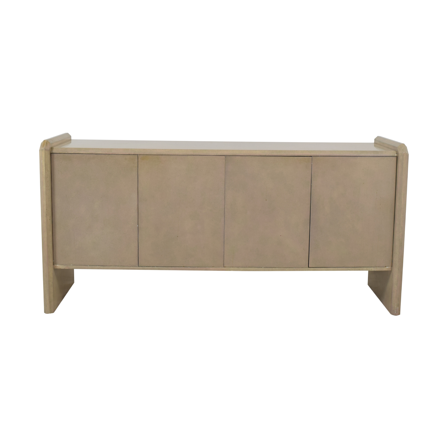 Blush Pink Lacquer Entryway Credenza dimensions
